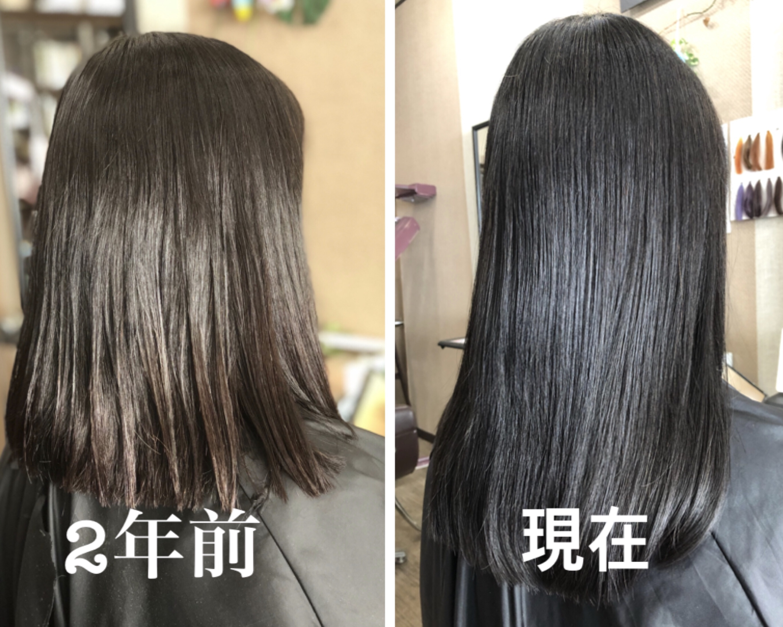 埼玉県 白髪染めをしながらハナヘナで髪質改善をした