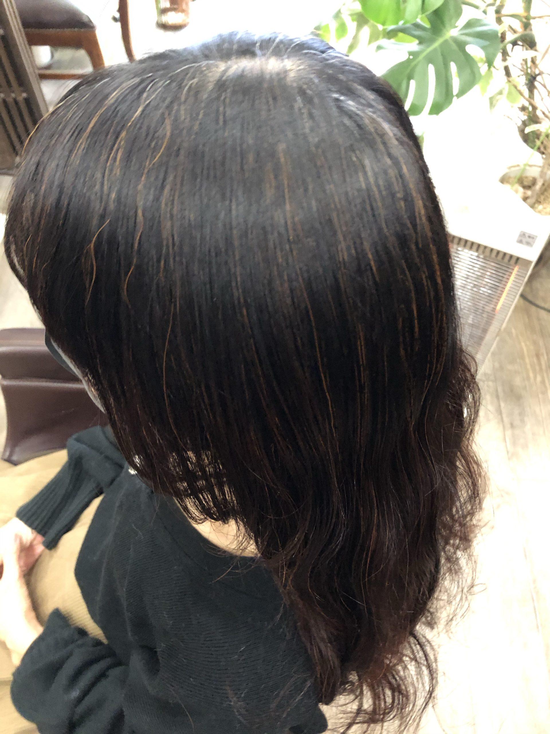 川口市で天然100%ヘナで白髪染めの実例