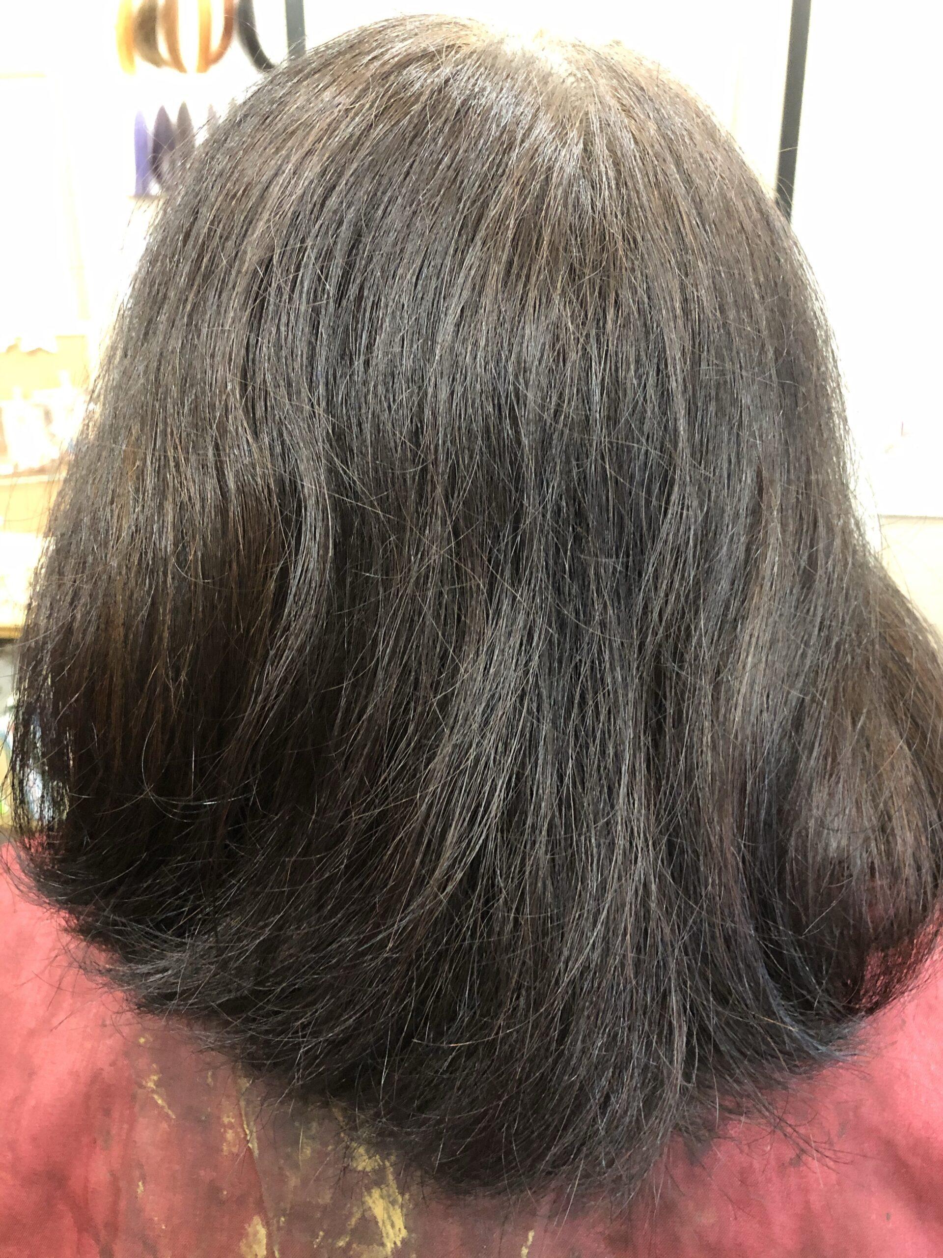 ハナヘナで白髪染めをするとどうなるか