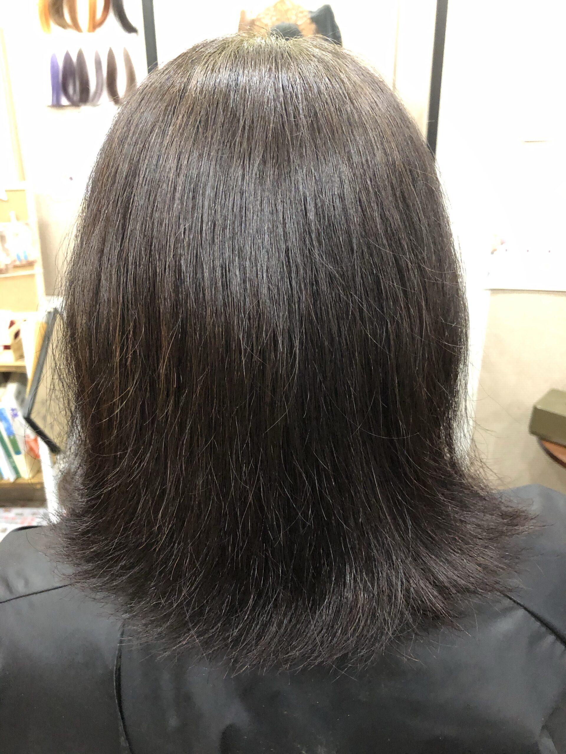 ハナヘナ白髪染め施術例